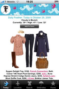 Der Feather Report schlägt passend zum Wetter trendige Outfits vor.