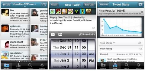 Der vollen Twitter-Überblick mit Hootsiute: Gruppen, Twittern (auch zeitverzögert) und statistische Infos