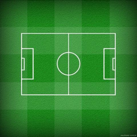 Das Fußballfeld für's iPad - prima für den Home-Bildschirm geeignet