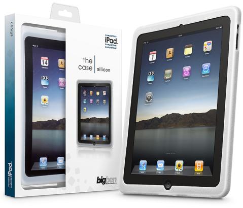 Das Silicon-Case hat eine Aussparung für eine Front-Kamera im iPad
