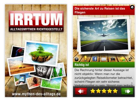 """Die App """"IRRTUM - Alltagsmythen aufgedeckt"""""""